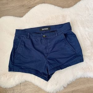 Express mid rise shortie shorts
